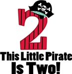 Pirate 2nd Birthday Cute T-shirts