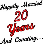 20th Anniversary Gift Happily Married