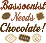 Bassoonist Chocolate Humor Music T-shirts