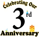 3rd Anniversary Party Gift T-shirts