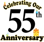 55th Anniversary Party Gift T-shirts