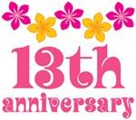 13th Anniversary Gift Hawaiian Themed