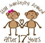 17th Anniversary Funny Monkey Gifts