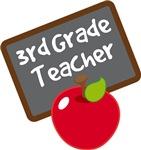 Cute Apple Slate 3rd GradeTeacher Gifts and Shirts
