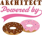 Architect Powered By Doughnuts Gift T-shirts