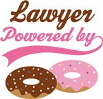 Lawyer Powered By Doughnuts Gift T-shirts