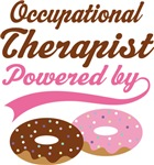 Occupational Therapist Powered By Doughnuts Shirts