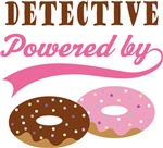 Detective Powered By Doughnuts Gift T-shirts