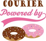Courier Powered By Doughnuts Gift T-shirts