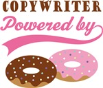 Copywriter Powered By Doughnuts Gift T-shirts
