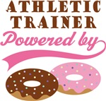 Athletic Trainer Powered By Doughnuts Gift T-shirt
