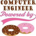 Computer Engineer Powered By Donuts Gift T-shirts