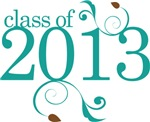 Teal Color Class Of 2013  Graduate Gifts