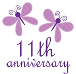 11th Anniversary Gift Purple Butterfly