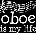 Oboe is My Life Music Staff Gifts and Shirts