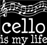 Cello is My Life Music Staff Gifts and Shirts