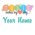 Music Makes My Heart Sing Customized Gifts