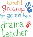 Future Drama Teacher Kids T-shirts