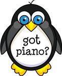 Piano Music Penguin T-shirts and Gifts