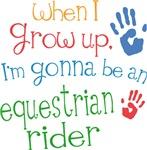 Future Equestrian Rider Kids T-shirts