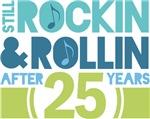 25th Anniversary Rock N Roll Tshirts