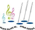 Funny Flute Cartoon Quote T-shirts