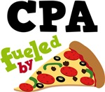 CPA Funny Fueled By Pizza T-shirts