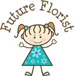 Future Florist Stick Girl Occupation T-shirts