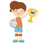 Volleyball Girl Kids Tee Shirts