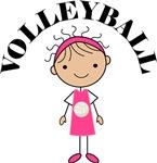 Volleyball Girl Tee Shirts