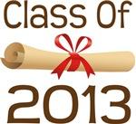 2013 School Class Diploma Design Gifts