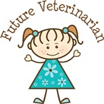 Future Veterinarian Stick Girl Occupation T-shirts