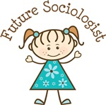 Future Sociologist Stick Girl Occupation T-shirts