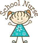 SCHOOL NURSE STICK FIGURE GIRL TEES
