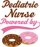 Pediatric Nurse Powered By Donuts Gift T-shirts