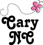 Cary North Carolina Butterfly T-shirts