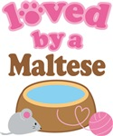 Loved By A Maltese Tshirt Gifts