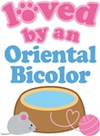 Loved By An Oriental Bicolor Cat T-shirts
