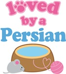 Loved By A Persian Cat T-shirts