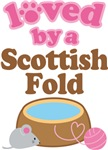 Loved By A Scottish Fold Tshirt Gifts
