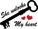 She Unlocks My Heart Matching T-shirts