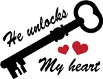 He Unlocks My Heart Ladies T-shirts