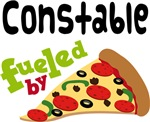 CONSTABLE Funny Fueled By Pizza T-shirts