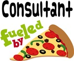 CONSULTANT Funny Fueled By Pizza T-shirts
