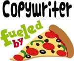 COPYWRITER Funny Fueled By Pizza T-shirts