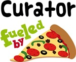 CURATOR Funny Fueled By Pizza T-shirts