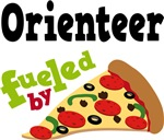 ORIENTEER Funny Fueled By Pizza T-shirts