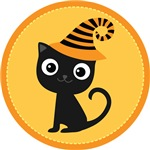 Halloween Black Witch Cat Party Gifts and Shirts
