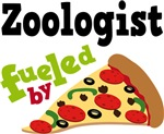 ZOOLOGIST Funny Fueled By Pizza Tshirts