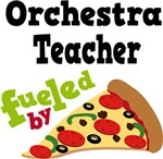 Orchestra Teacher Fueled By Pizza T-shirts